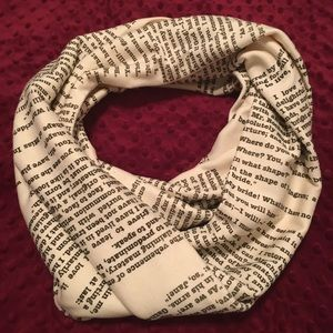 Classy, book scarf with Jane Eyre excerpts